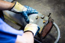 prepping-heat-exchanger-don-hart-radiator-repair-service