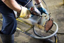 prepping-heat-exchanger-don-hart-radiator-repair-service-austin-texas