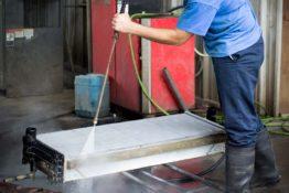 pressure-washing-charge-air-cooler-don-hart-radiator-repair-service