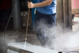 pressure-washing-charge-air-cooler-don-hart-radiator-repair-service-houston-texas