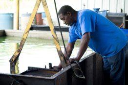 radiator-in-test-tank-don-hart-radiator-repair-service-bryan-texas